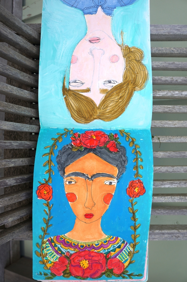 Frida and Virginia from my journal.